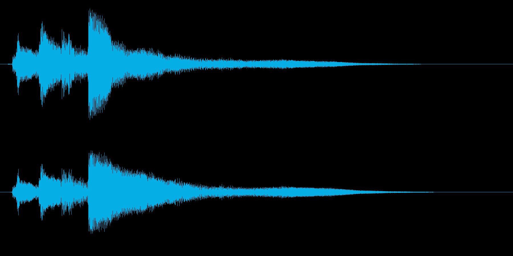 生ピアノで奏でる清々しい下り分散和音の再生済みの波形