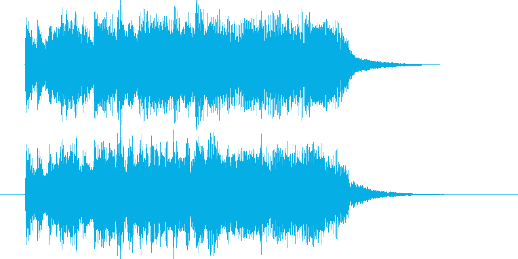 壮大で華麗なストリングスジングルの再生済みの波形