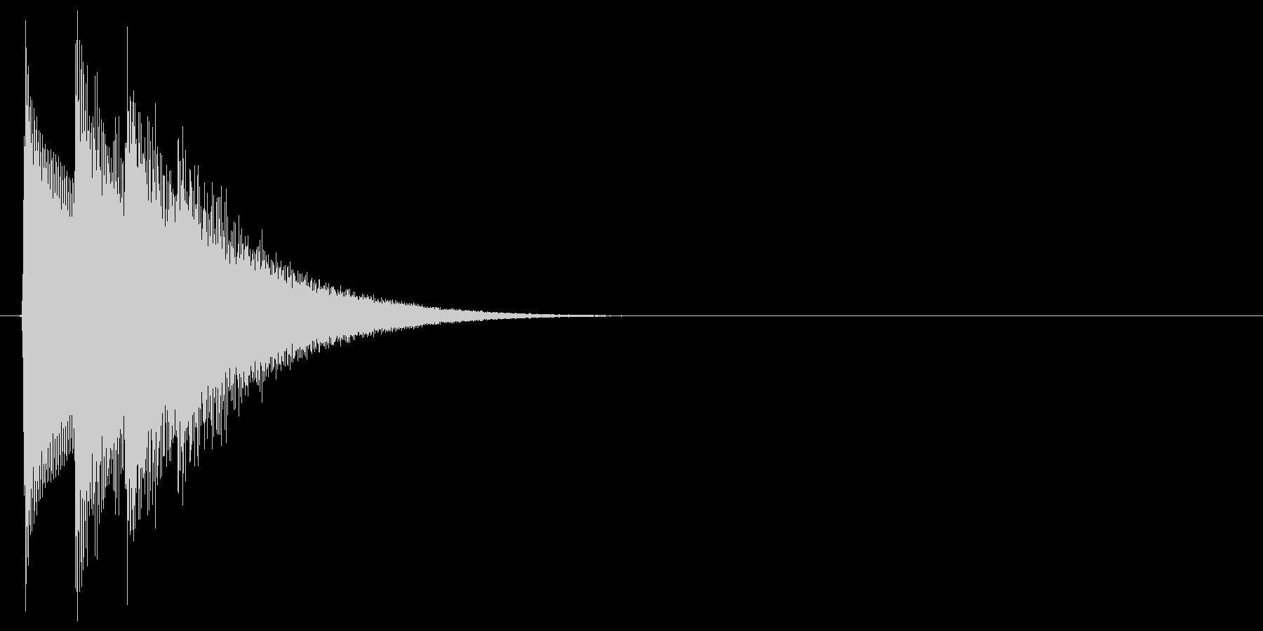 シンプルで汎用的な決定音その1の未再生の波形