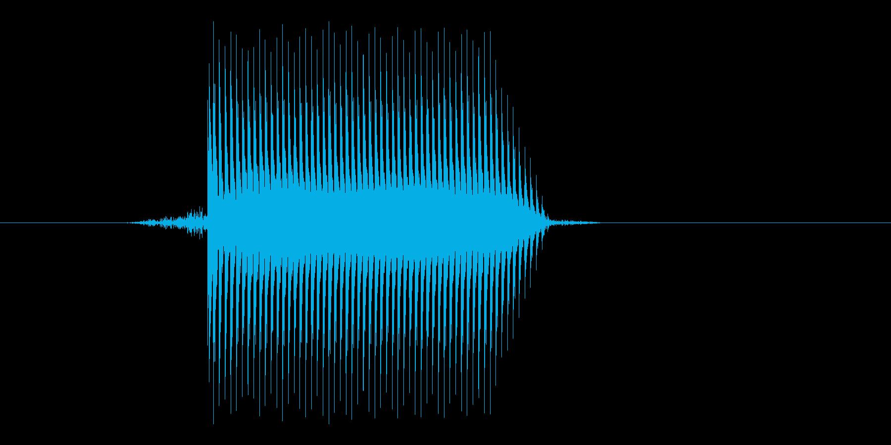 ゲーム(ファミコン風)セレクト音_042の再生済みの波形