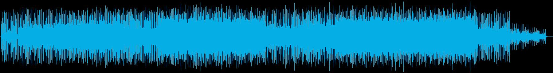 お洒落で現代的なテクノの再生済みの波形
