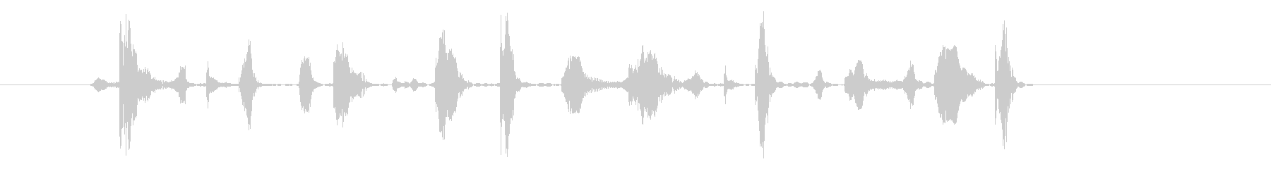 ブンツカダットドンドンガットの未再生の波形