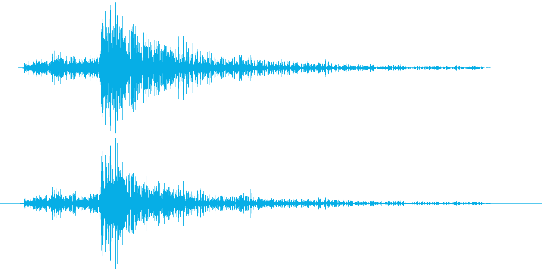 電子レンジ 開ける ガチャの再生済みの波形