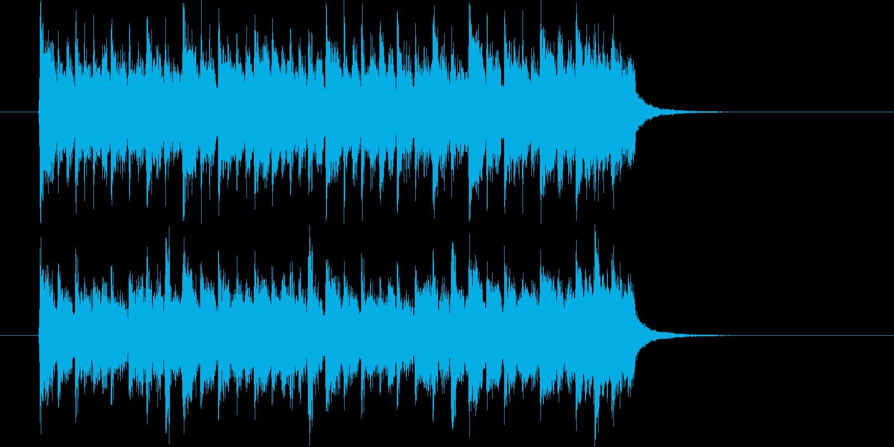 激しくワクワク感のあるシンセテクノ短めの再生済みの波形