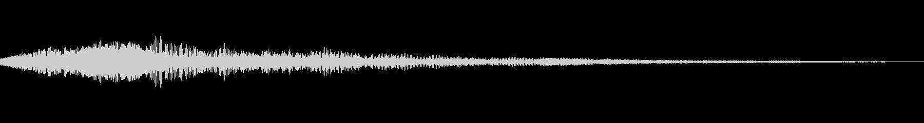 猫の鳴き声 にゃー の未再生の波形
