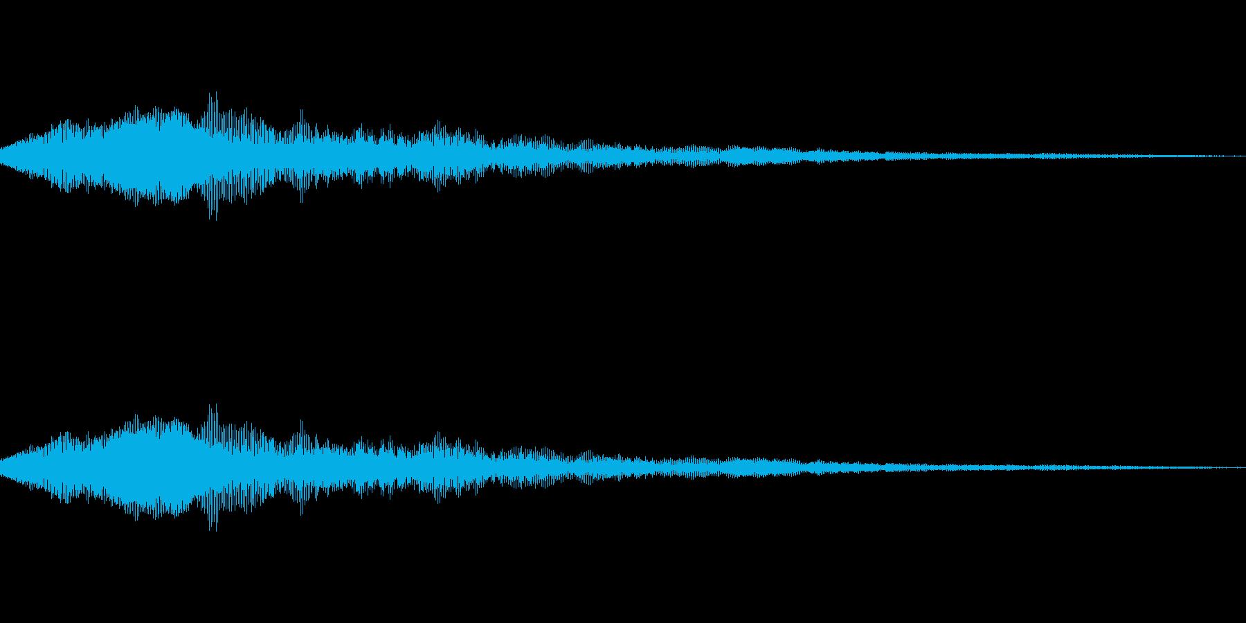猫の鳴き声 にゃー の再生済みの波形