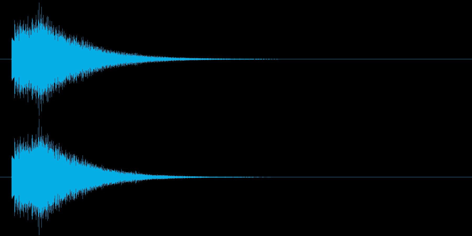 上昇するハープシコード音のSEの再生済みの波形