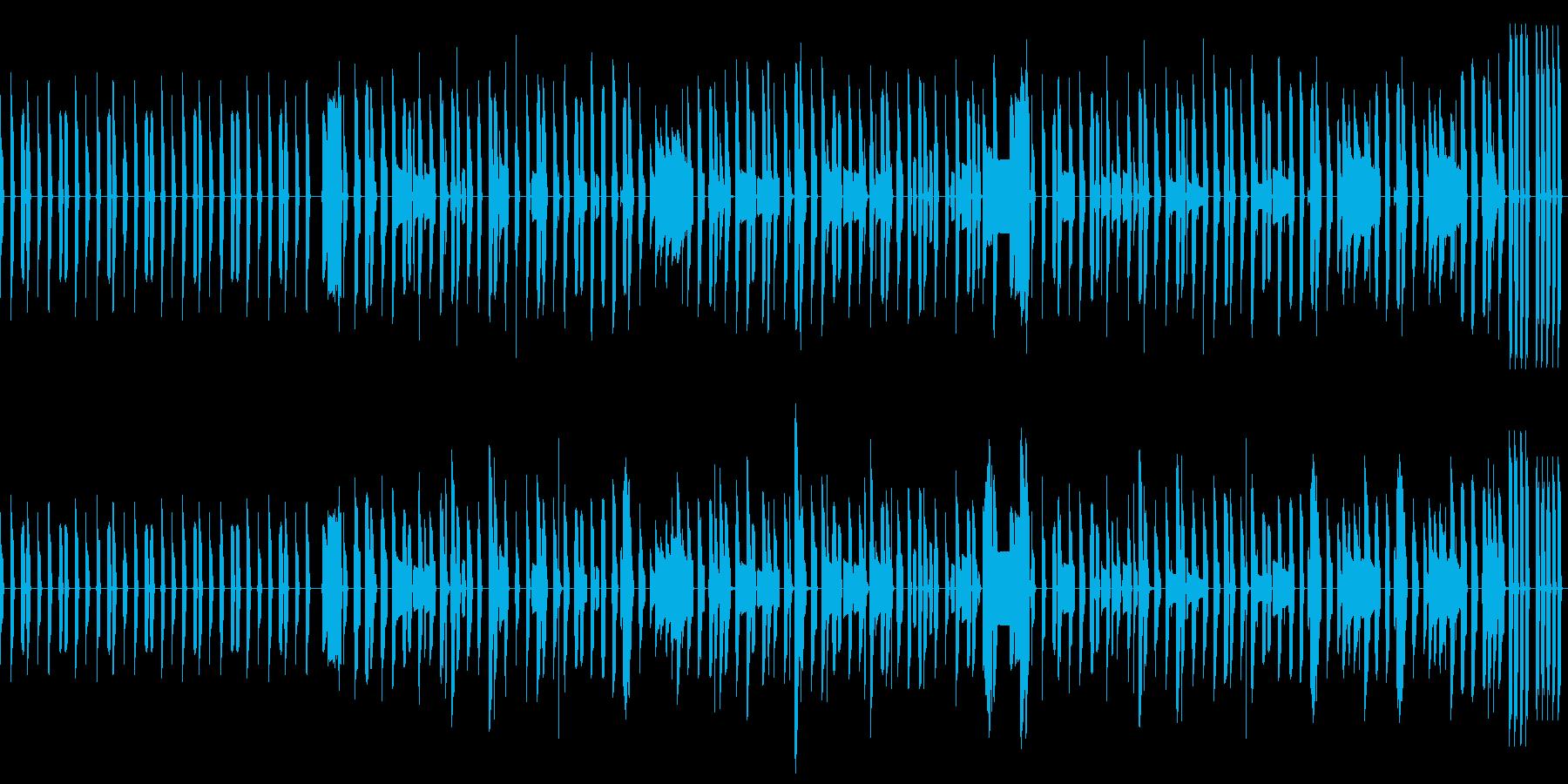 ピタゴラスイッチ風のほっこりしたボサノバの再生済みの波形