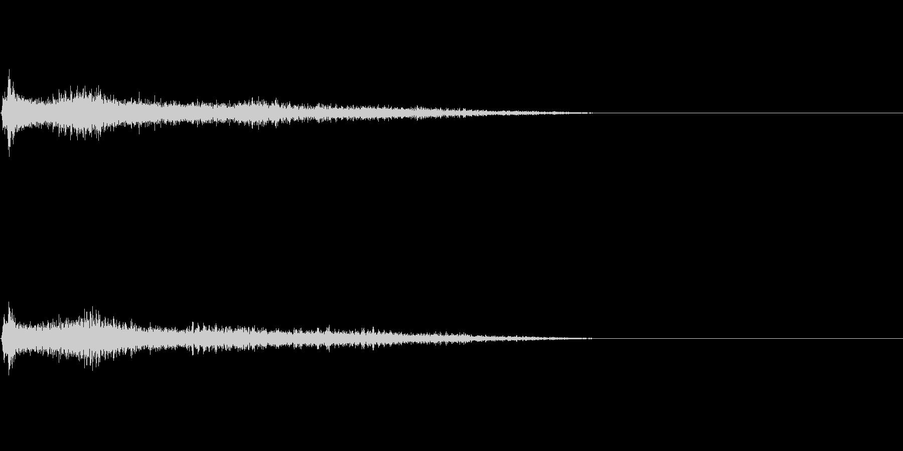 G♯マイナー インパクト音 衝撃音の未再生の波形