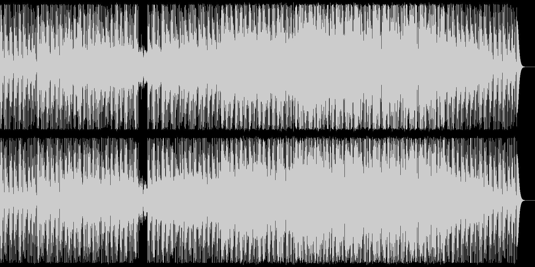 ジングル用に最適化されたエレクトロ曲の未再生の波形