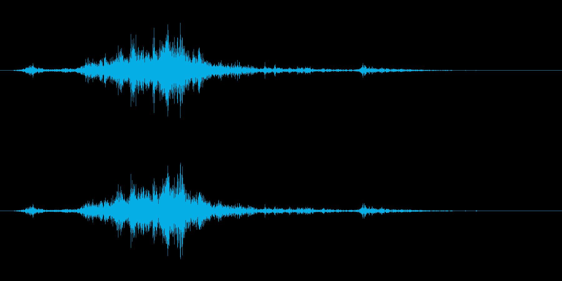 【雷 生録 環境01-1】の再生済みの波形
