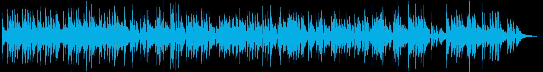 アコースティックギターの穏やかな3拍子の再生済みの波形