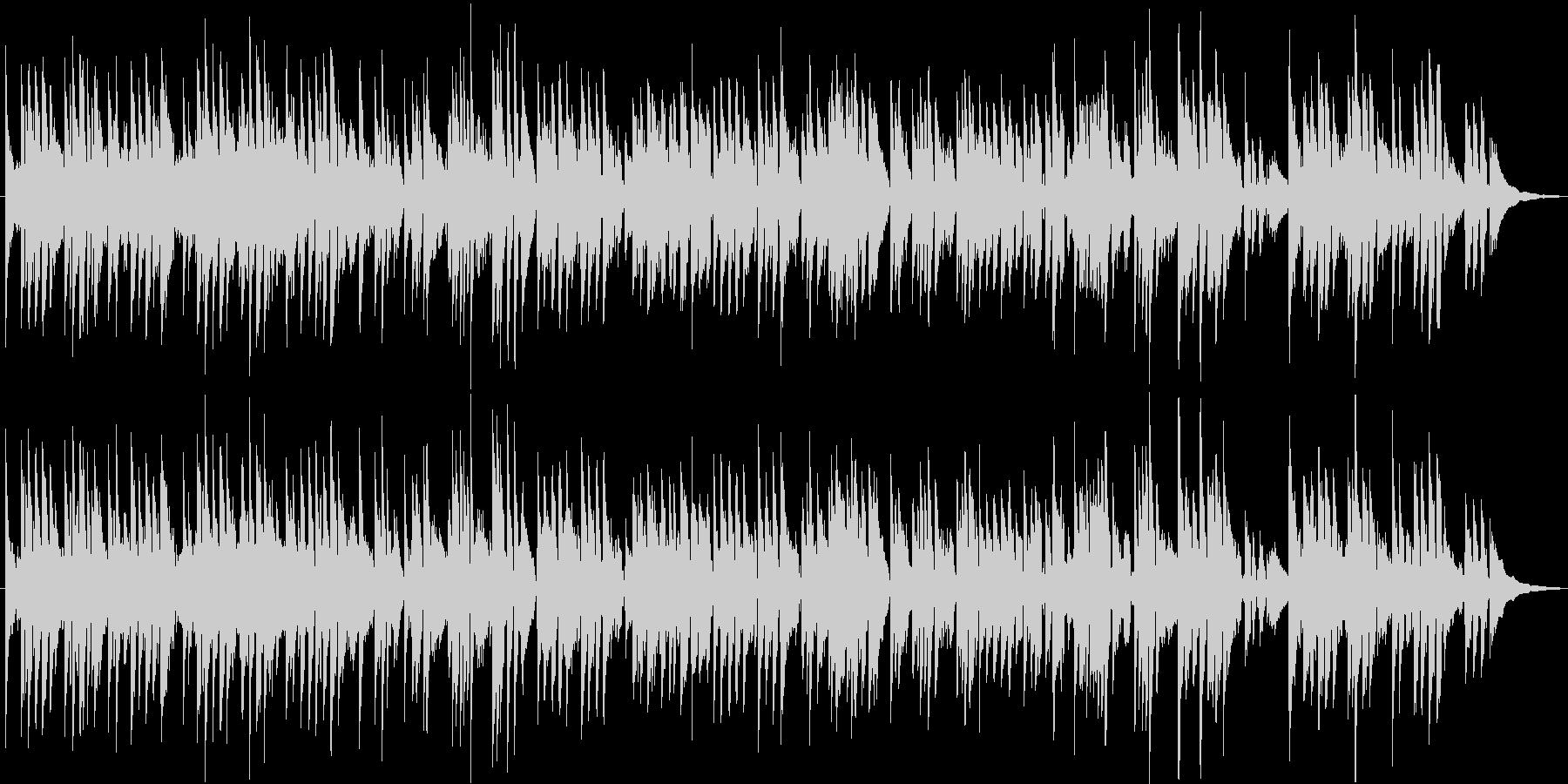 アコースティックギターの穏やかな3拍子の未再生の波形