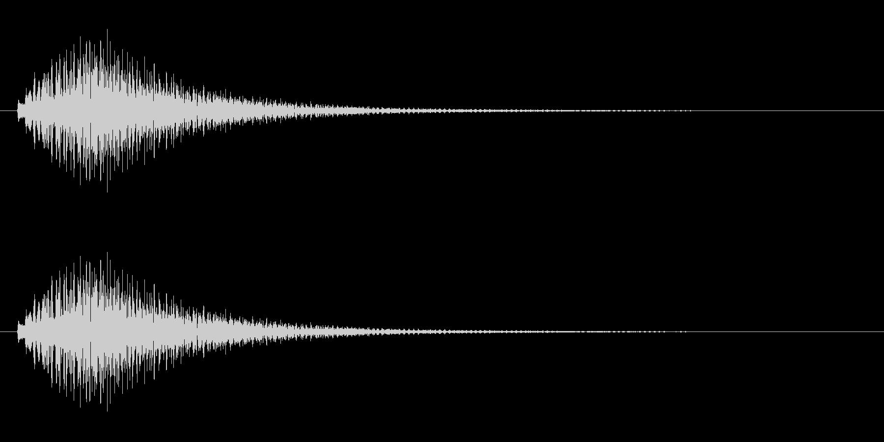 キラキラキラ/カリンバの綺麗な上昇音ですの未再生の波形