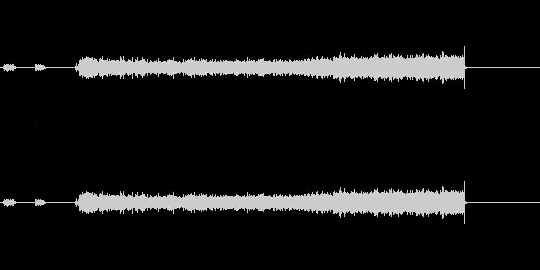 バーナーで火を付ける一連の流れの音の未再生の波形