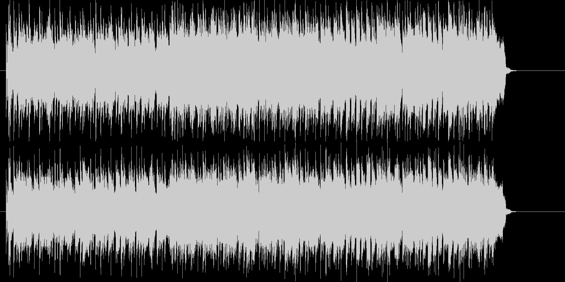 パワフルなギター・ロック・アンサンブルの未再生の波形
