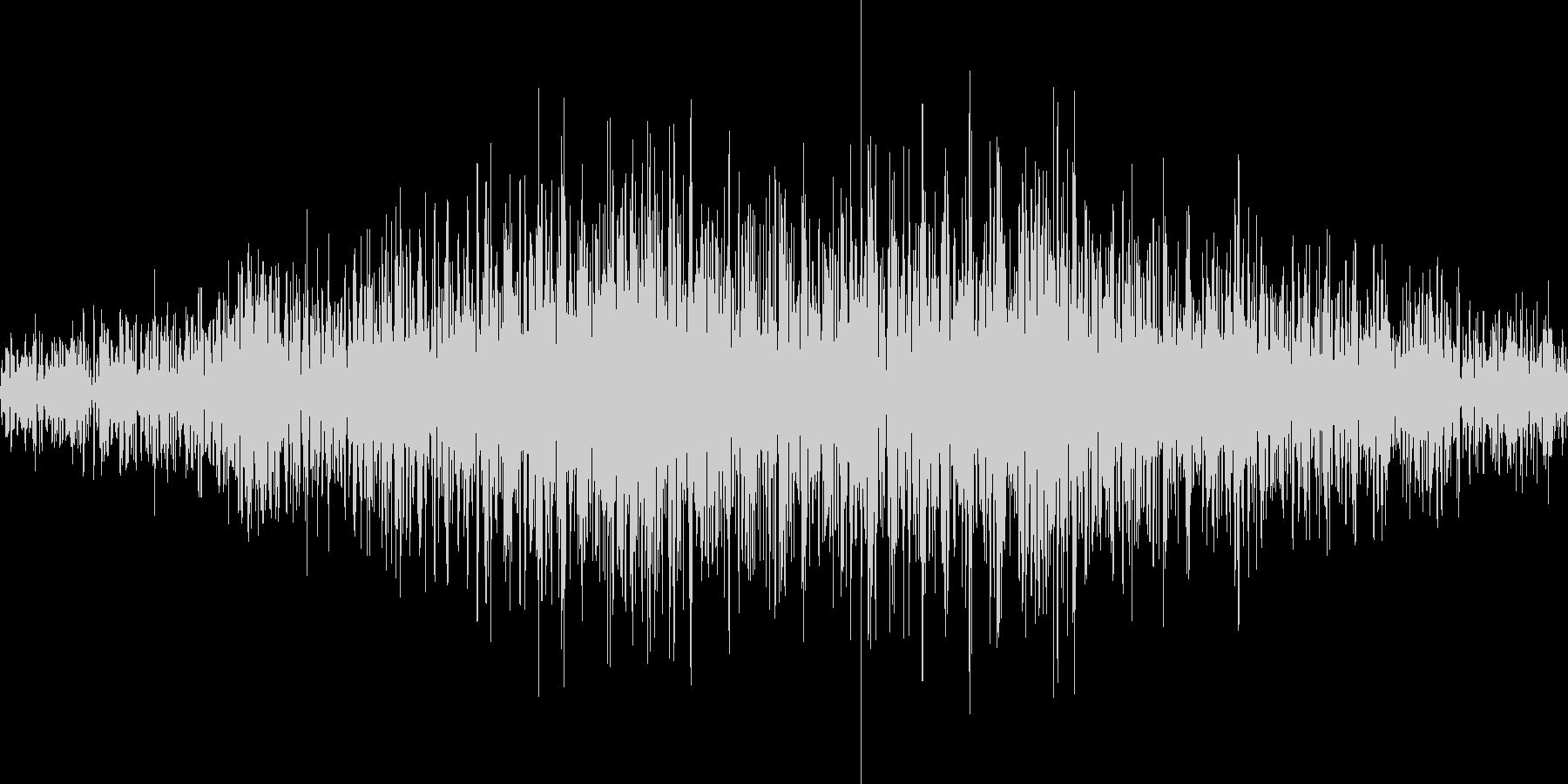 無限ループする地響き(モノラル)の未再生の波形