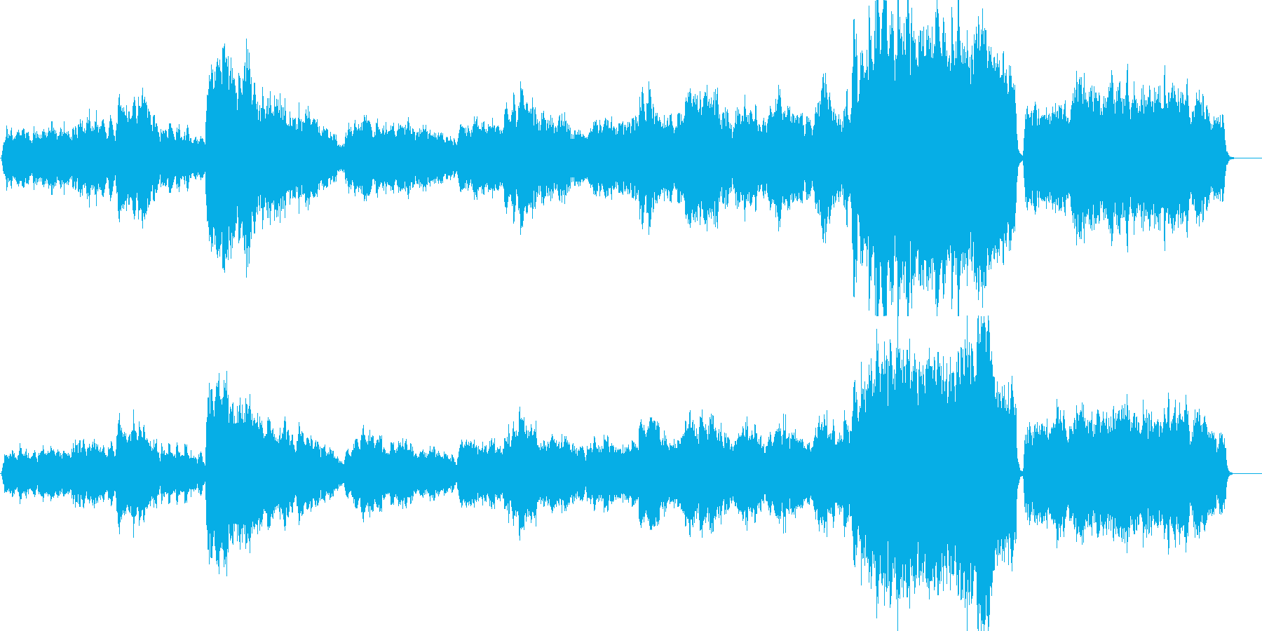 ヘンデルのオンブラ・マイ・フの再生済みの波形