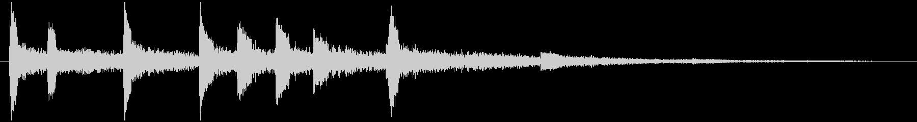 通知音・着信音風ジングル5の未再生の波形