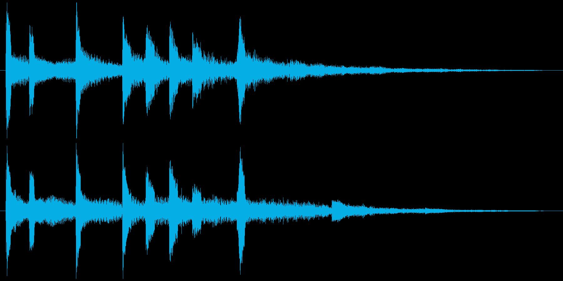 通知音・着信音風ジングル5の再生済みの波形