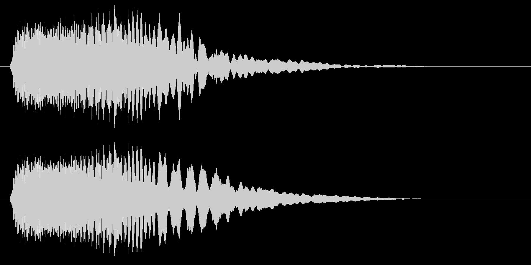ピュロン(明るく綺麗な決定音)の未再生の波形