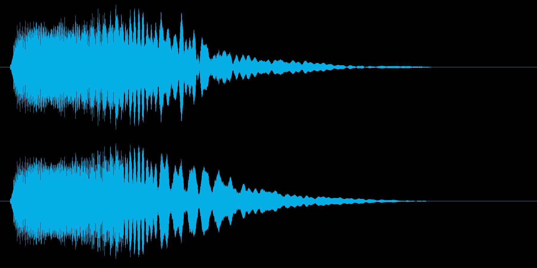 ピュロン(明るく綺麗な決定音)の再生済みの波形