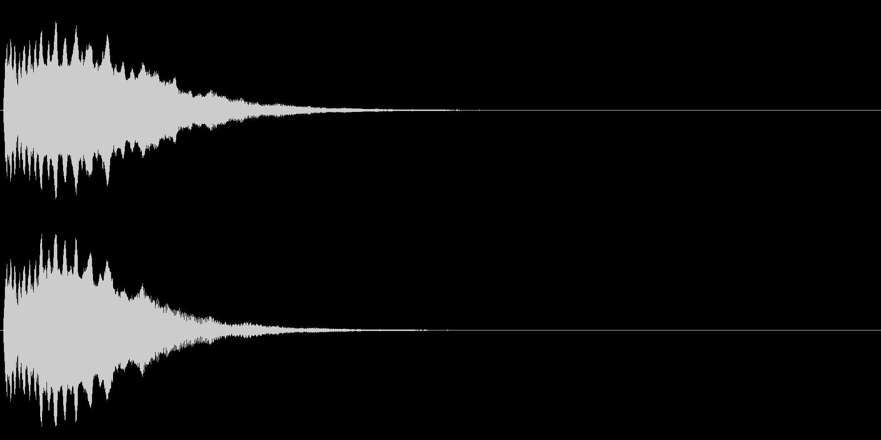ヒューン(物が投げられたような音)の未再生の波形
