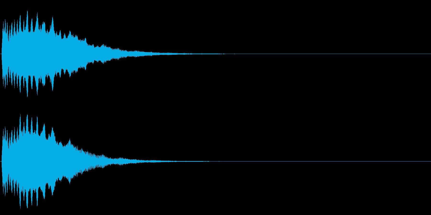 ヒューン(物が投げられたような音)の再生済みの波形