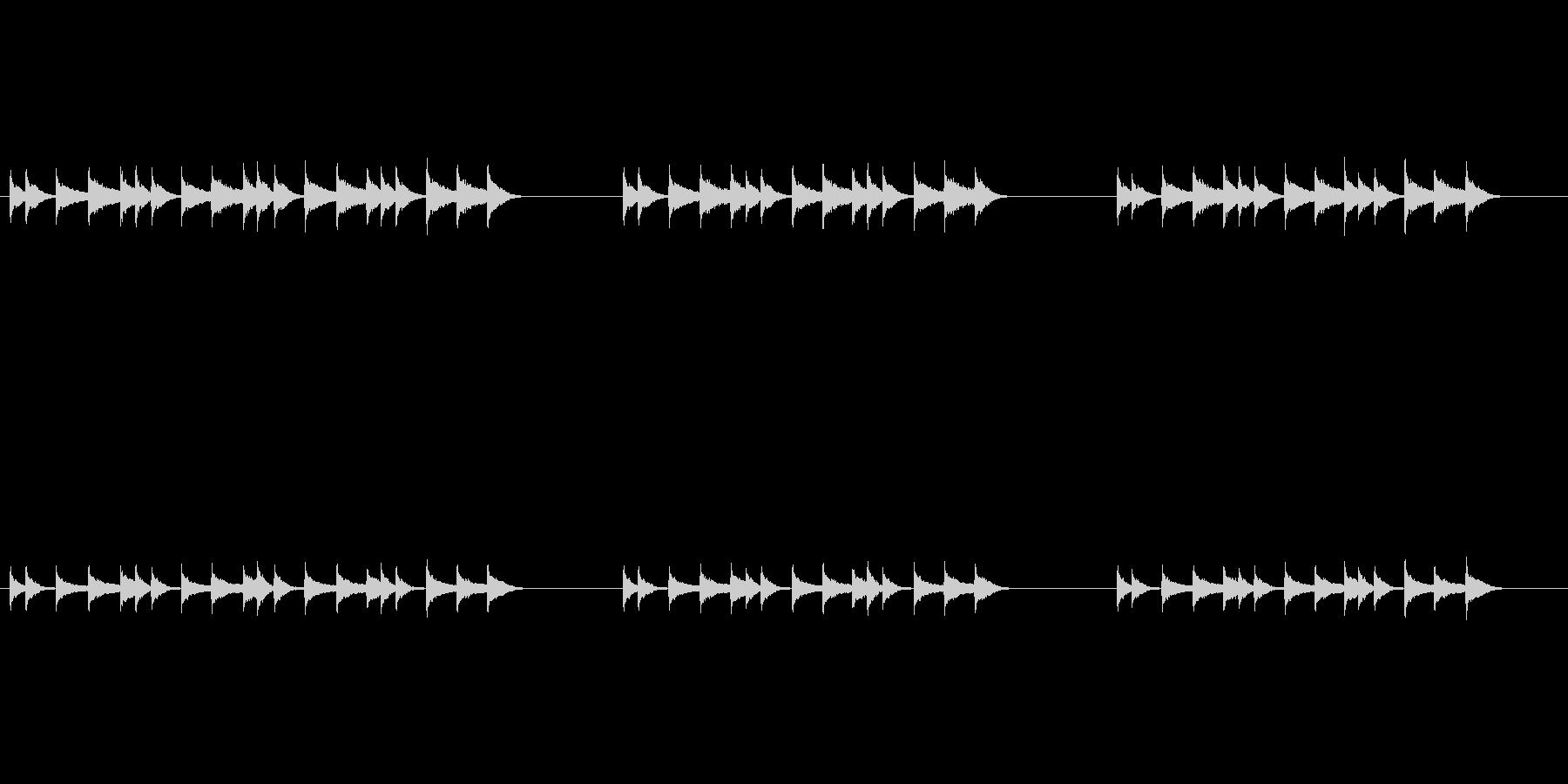 エスニックで調子外れなリズムフレーズの未再生の波形