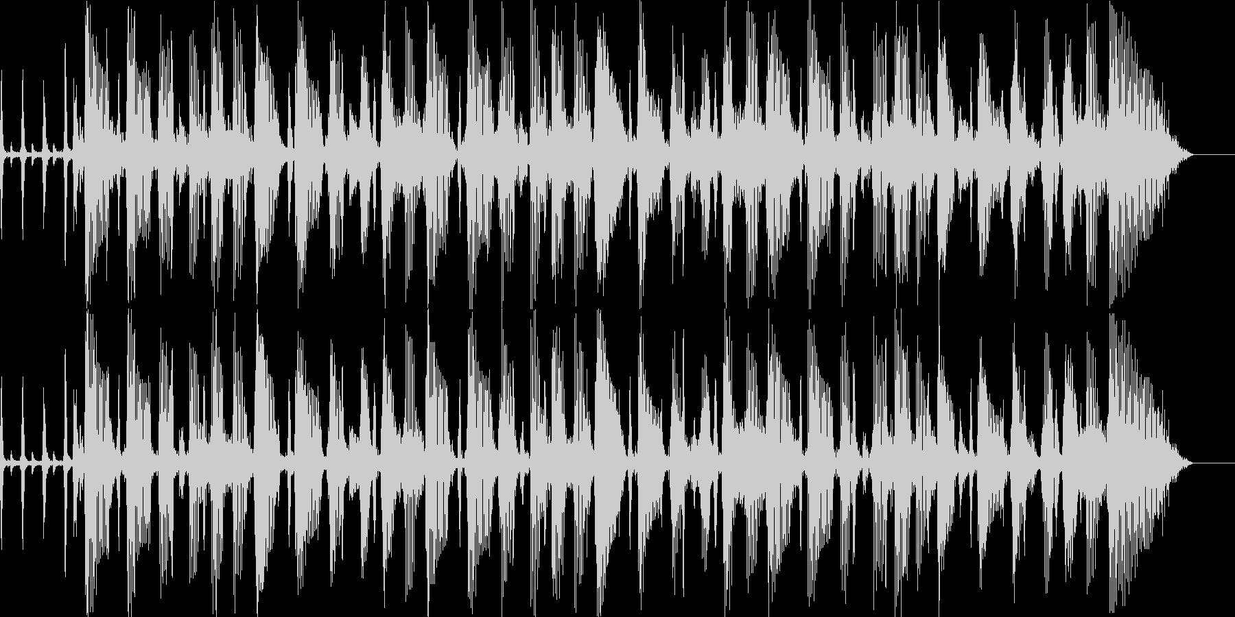 ジャズが奏でるBGMの未再生の波形