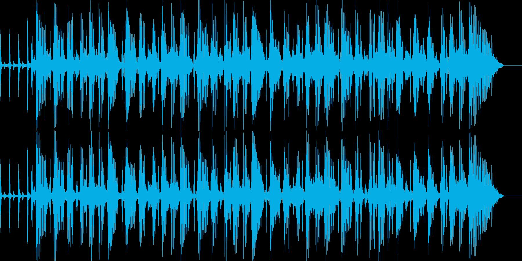 ジャズが奏でるBGMの再生済みの波形