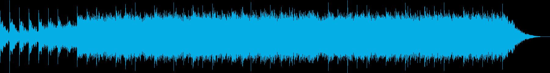 アンビエントなシンセサイザーとリズムの再生済みの波形
