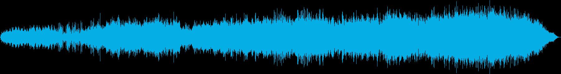 東洋的な雰囲気のBGMの再生済みの波形
