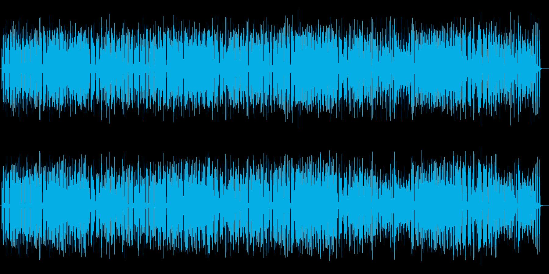 ゆったりとしたシンセポップスの再生済みの波形