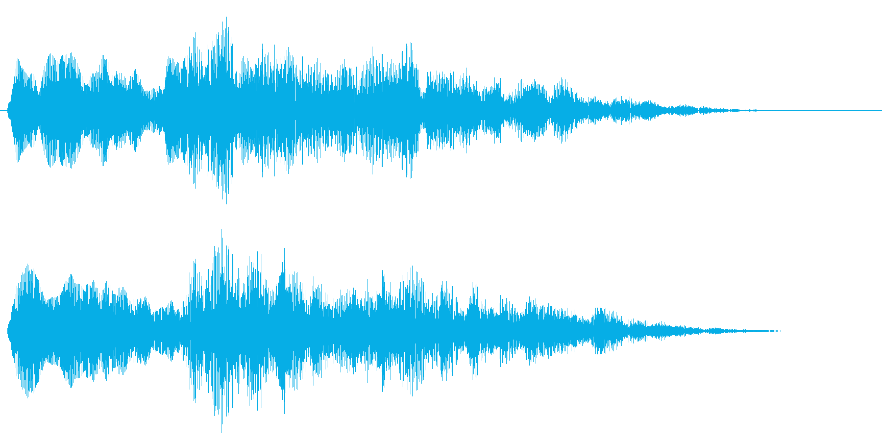 ピーンポーン ぴーんぽーん ピンポンの再生済みの波形