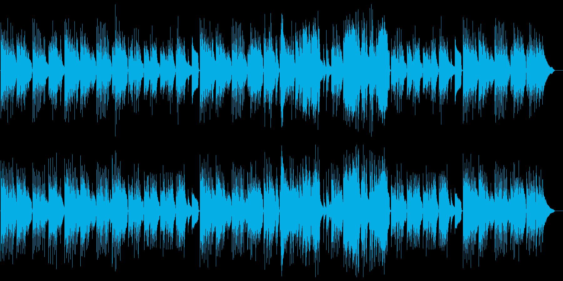 あたたかいピアノ曲の再生済みの波形