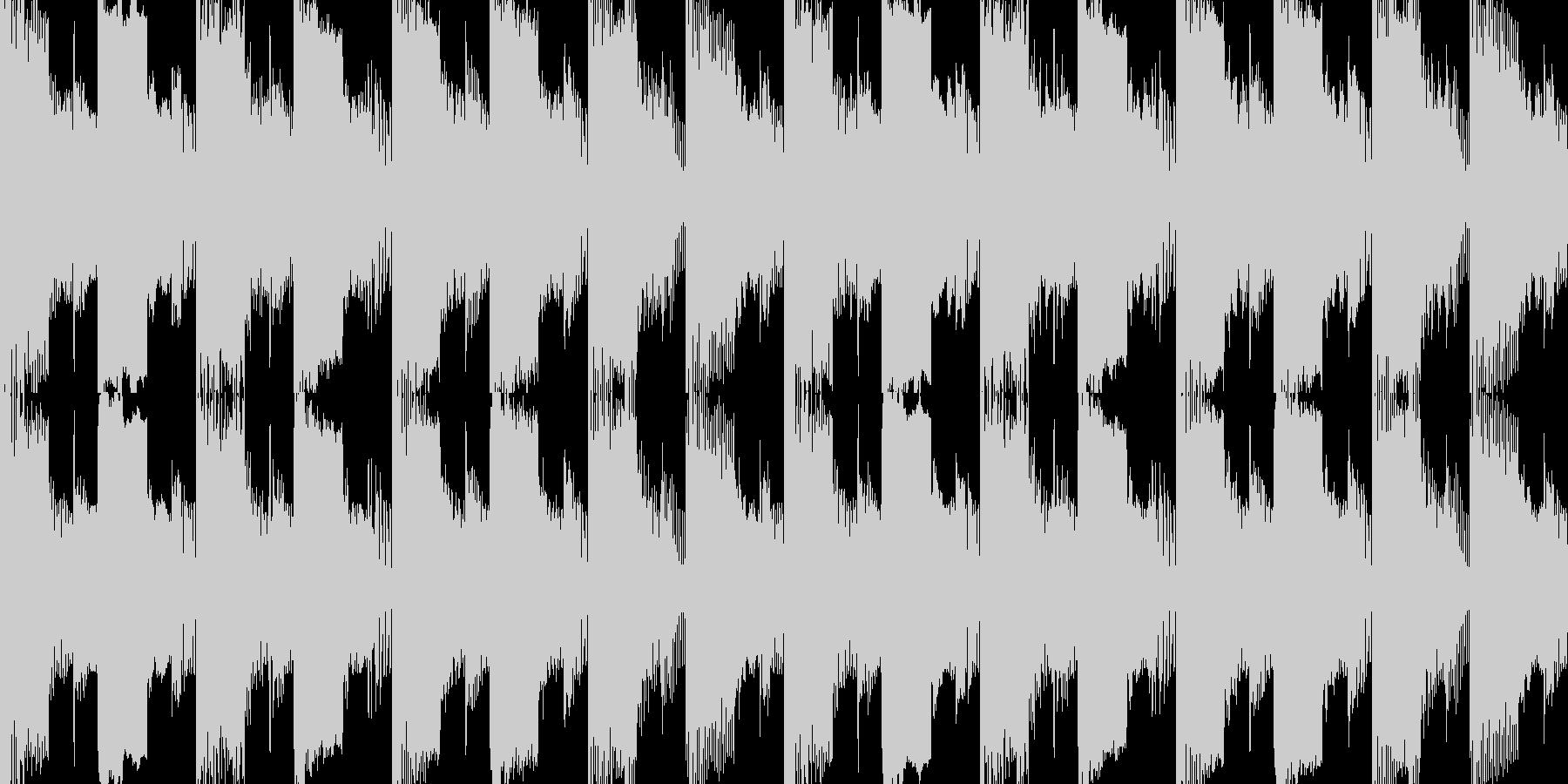 緊迫したクライマックスのチップチューンの未再生の波形