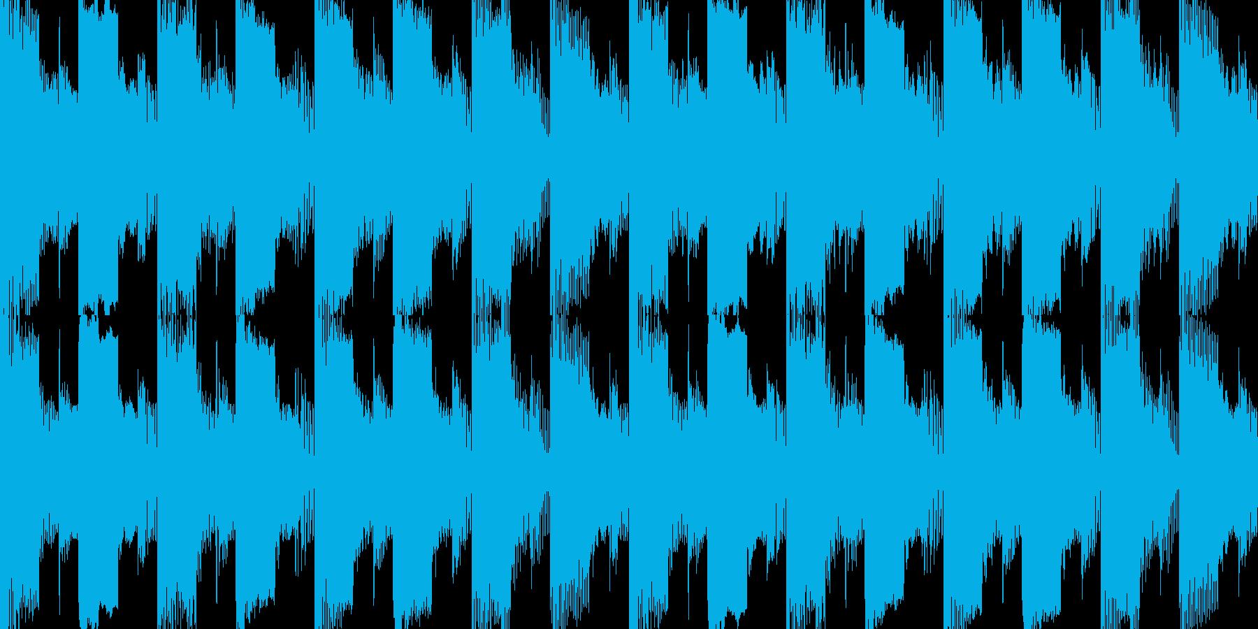 緊迫したクライマックスのチップチューンの再生済みの波形