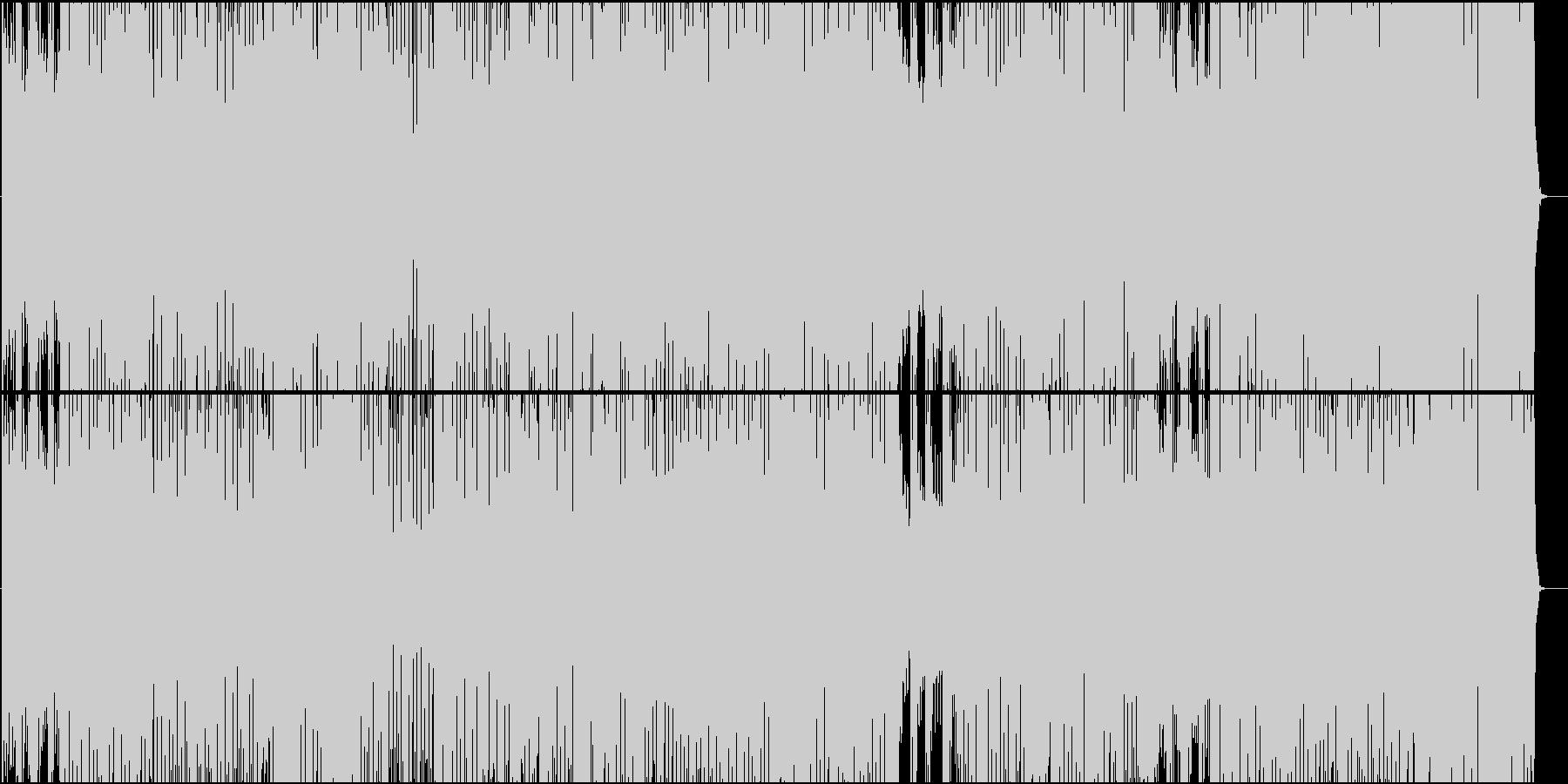 ブルース色が強い軽快なカントリー楽曲の未再生の波形