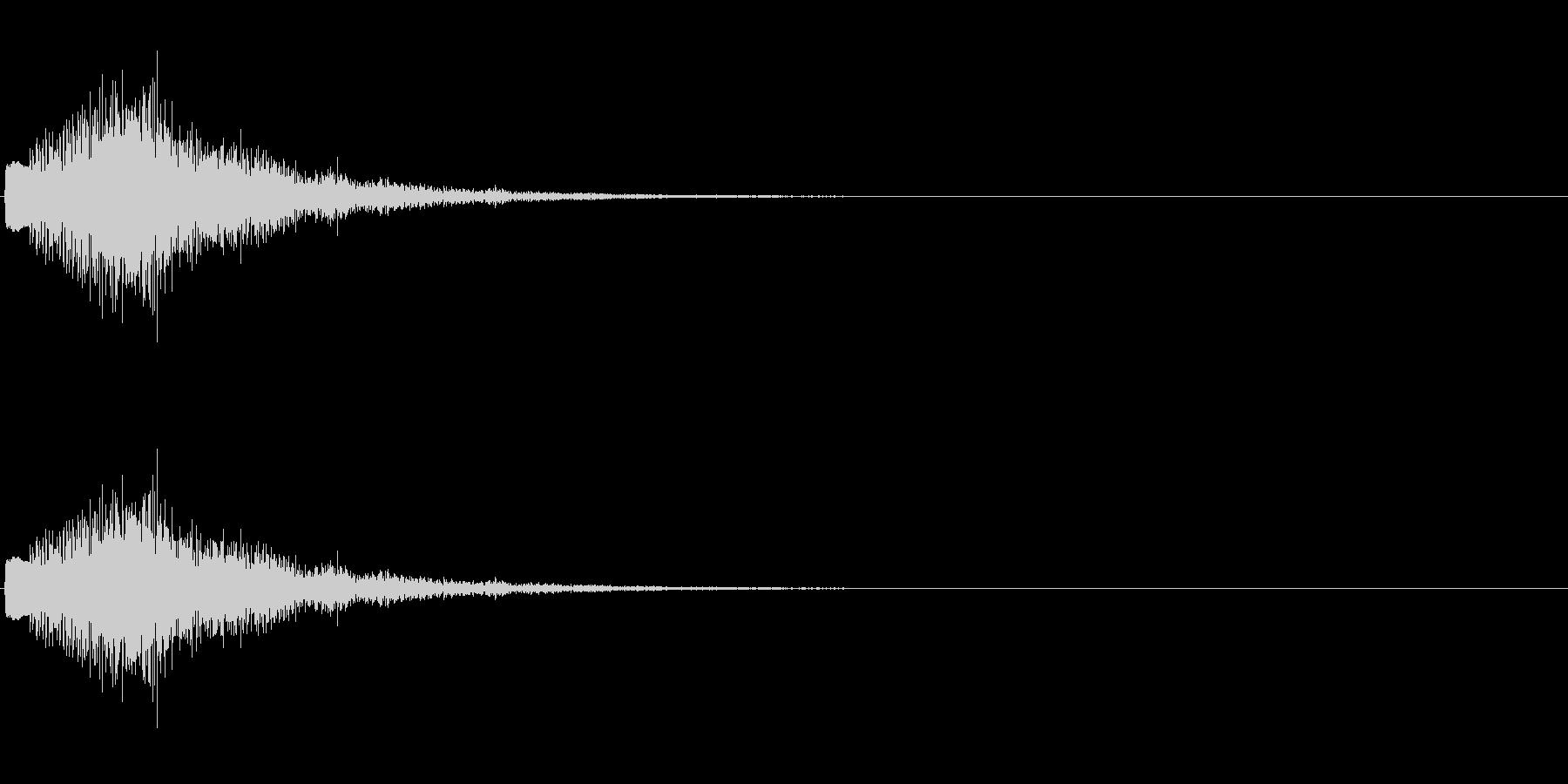 キラリラン(ベルのグリッサンド)の未再生の波形
