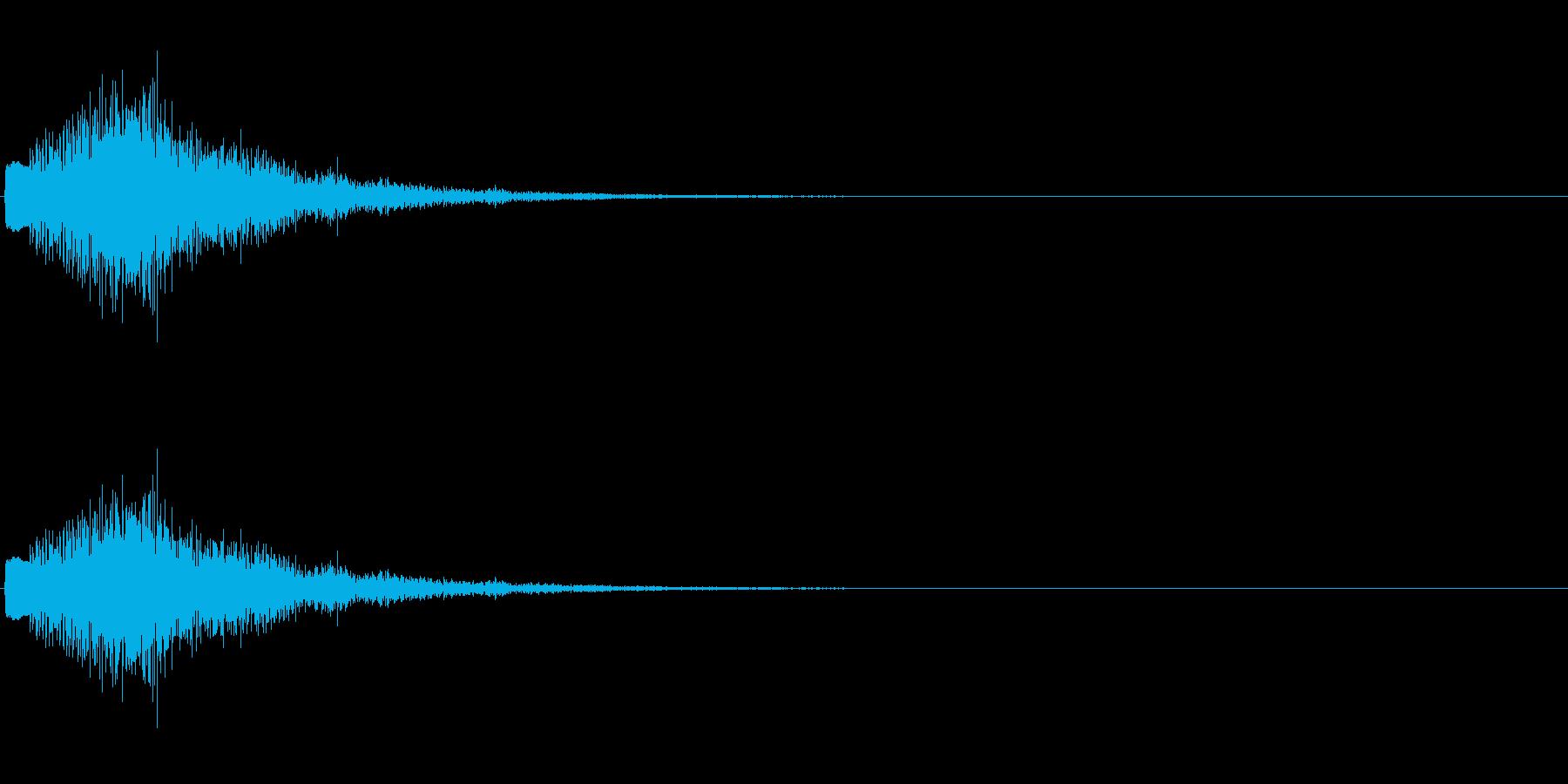 キラリラン(ベルのグリッサンド)の再生済みの波形