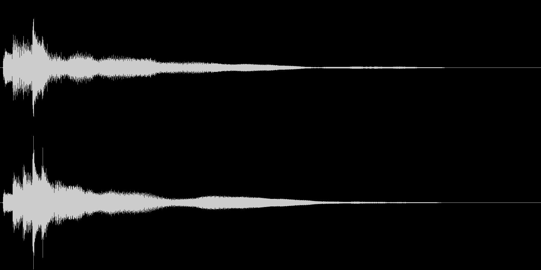 シンプルなピアノジングル02(ショート)の未再生の波形