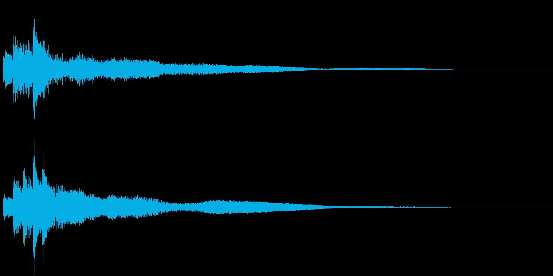 シンプルなピアノジングル02(ショート)の再生済みの波形