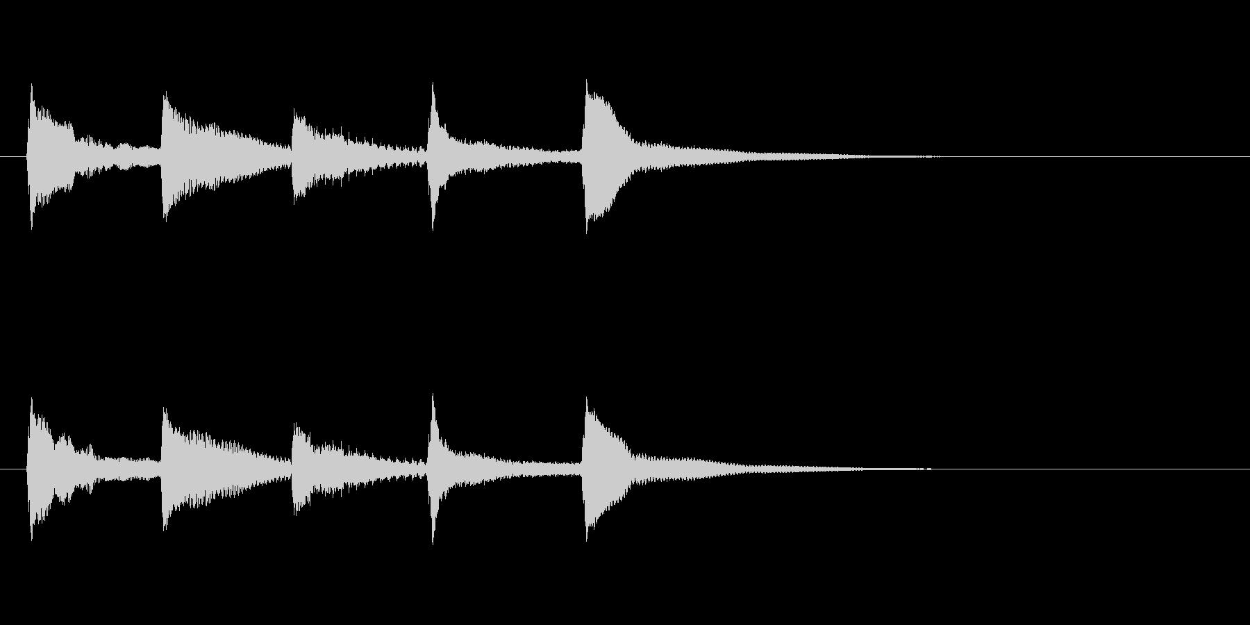 ゆらぎのある和風(琴)の起動音の未再生の波形