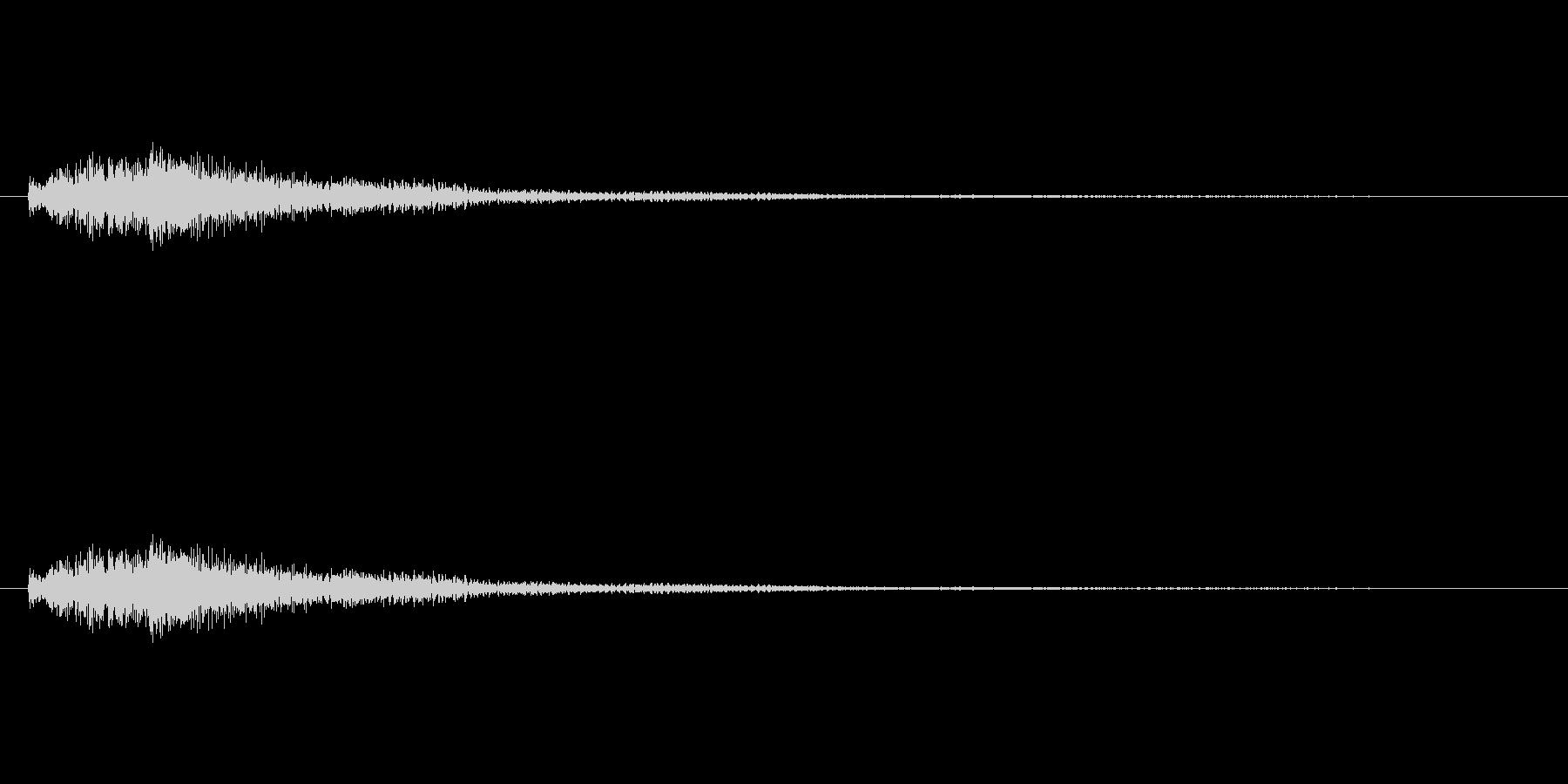 琴をジャラーンと鳴らしたような音(上昇)の未再生の波形