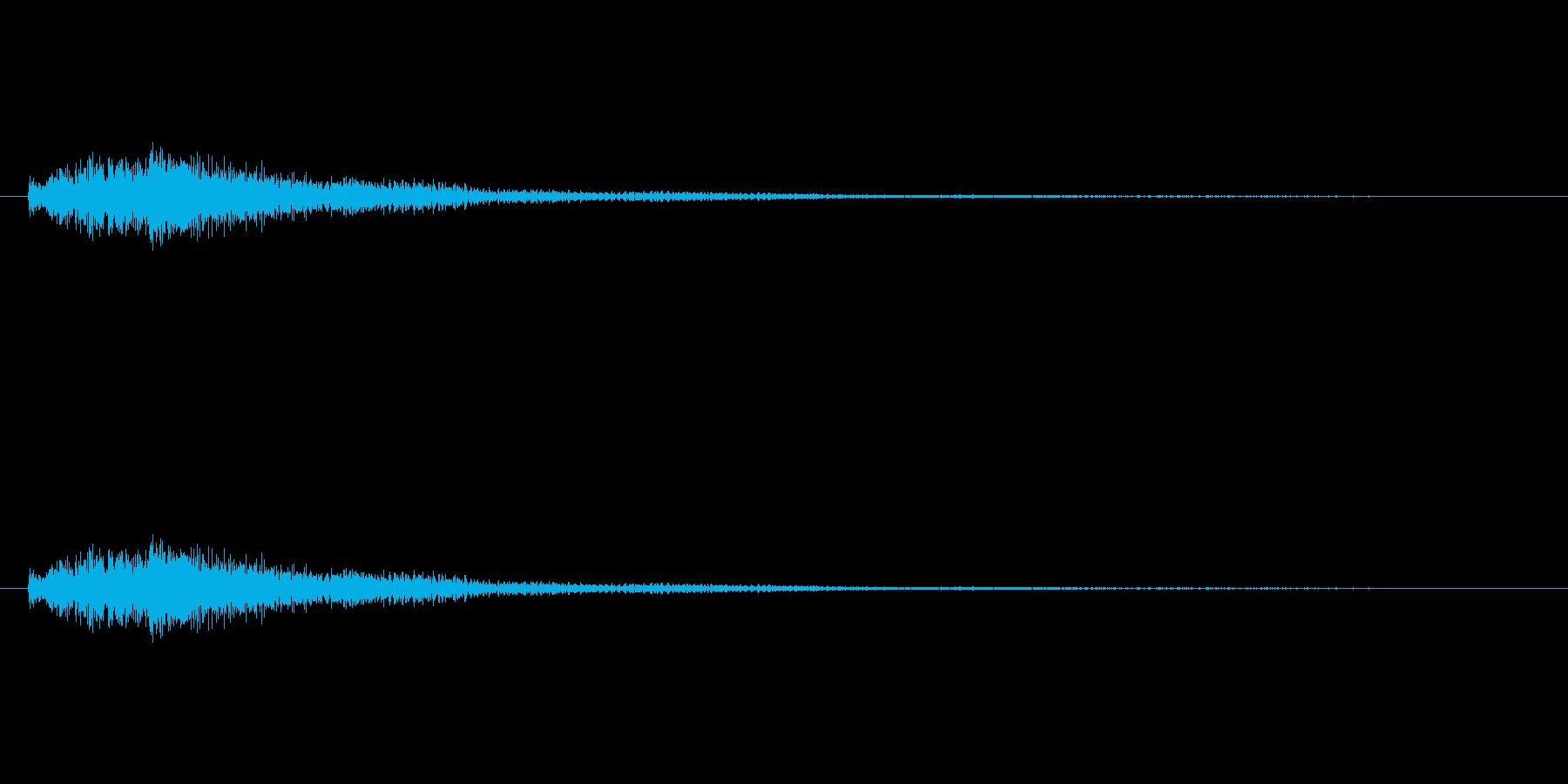 琴をジャラーンと鳴らしたような音(上昇)の再生済みの波形