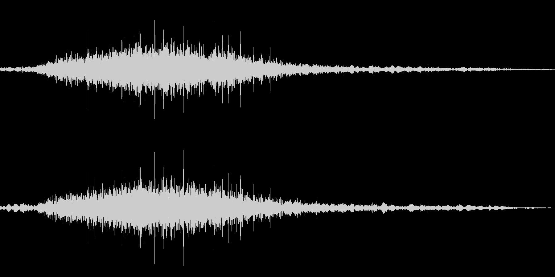 ザザザ…茂みから何か現る音の未再生の波形