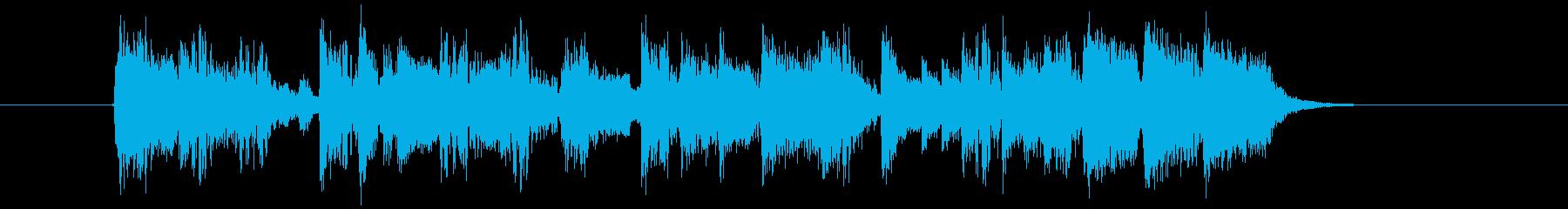 ワイルドでクールなパンクロックジングルの再生済みの波形