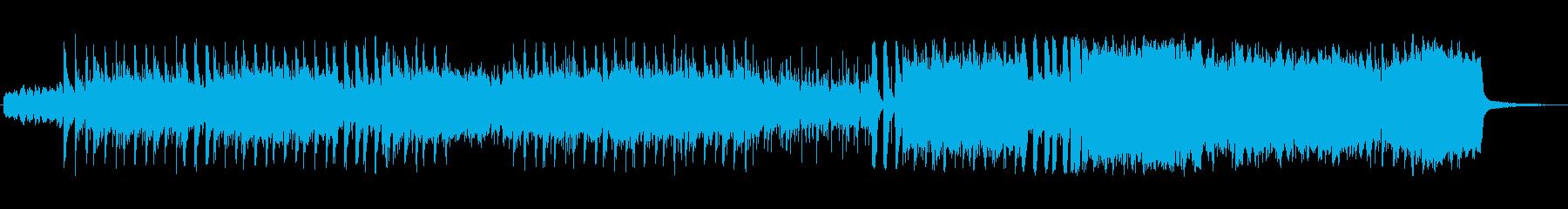 ダークで禍々しい雰囲気のオーケストラ曲の再生済みの波形