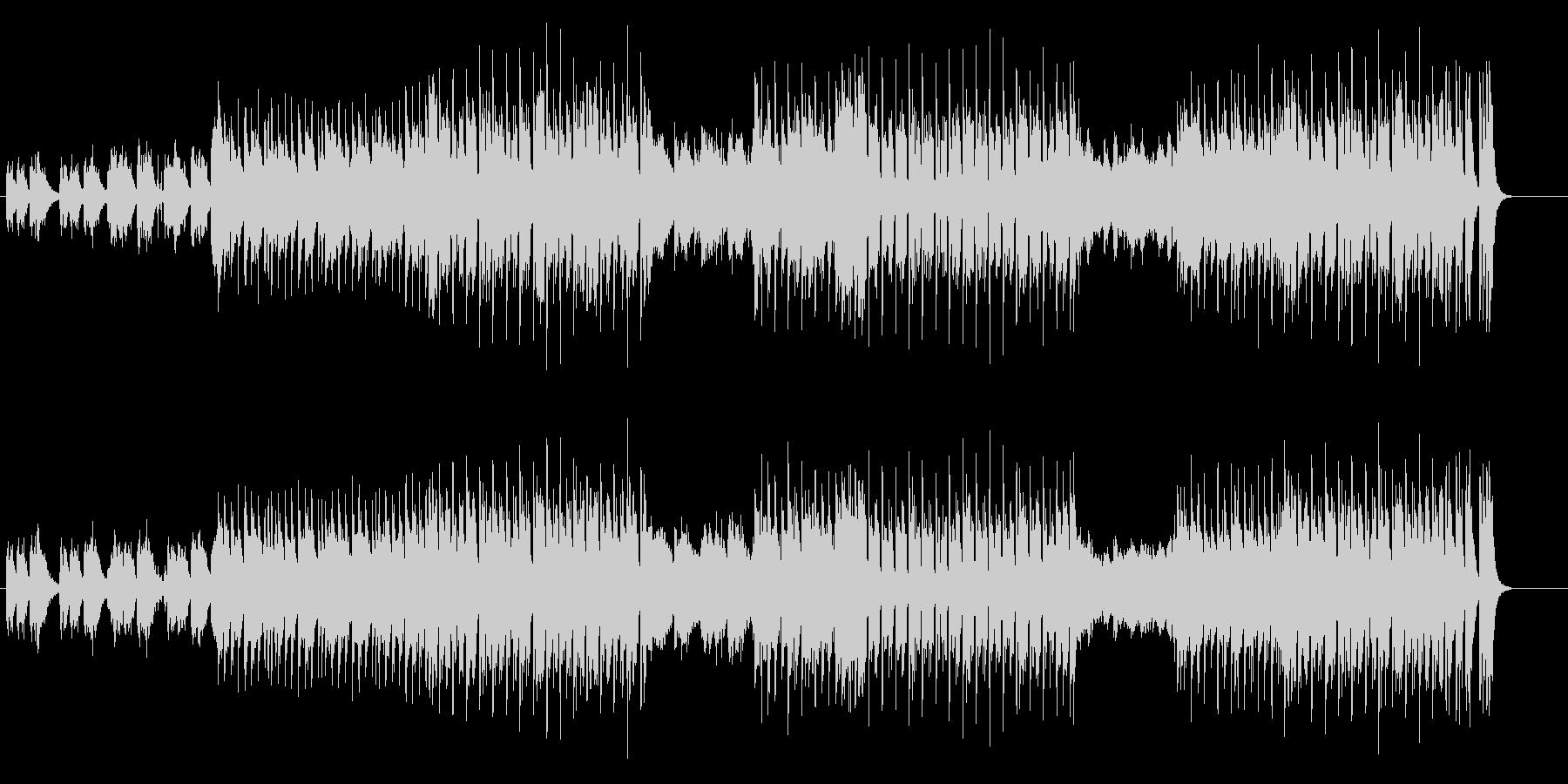 切迫感に満ちたエレクトリックミュージックの未再生の波形